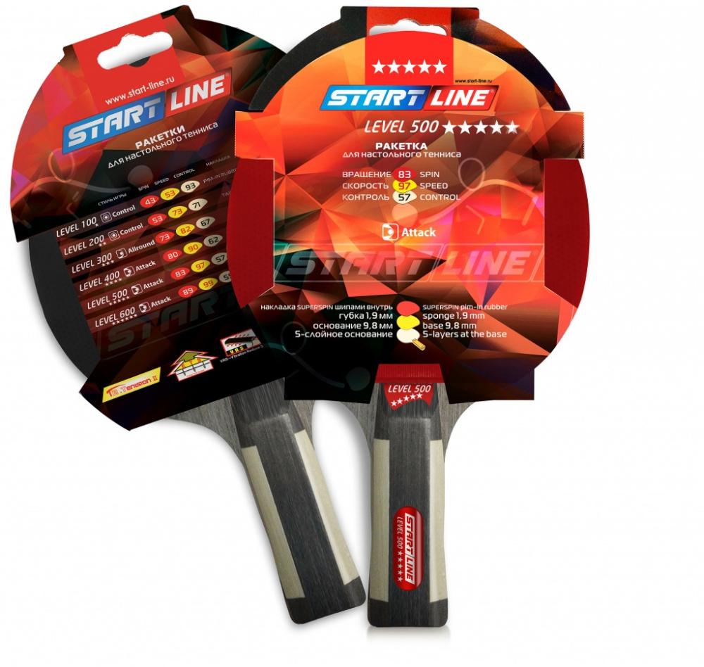 Ракетка Анатомическая Start Line Level 500 12603 для настольного тенниса 3be6d579012d8
