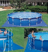 подстилка intex под easy set & frame pools 244 305 366 457см 28048
