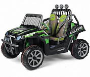 детский электромобиль peg-perego polaris ranger rzr green shadow igod0534